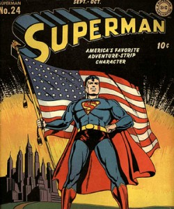 Superman and the American Flag