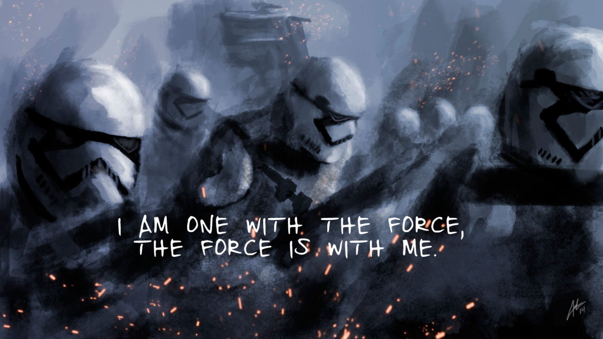 One With the Force Desktop Background