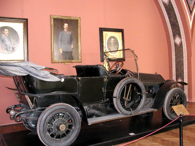 Open car of Arch Duke Franz Ferdinand